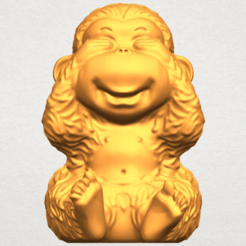 Download free 3D printer templates Monkey A03, GeorgesNikkei