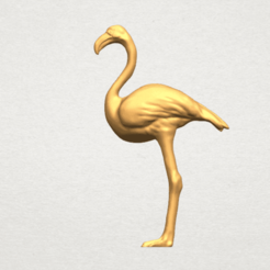 Flamingo 01 3D model, Miketon