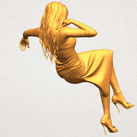 A07.png Download free STL file Naked Girl I01 • 3D print object, GeorgesNikkei