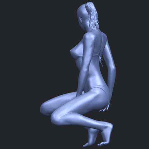 15_TDA0634_Naked_Girl_D04B05.png Download free STL file Naked Girl D04 • 3D printable template, GeorgesNikkei