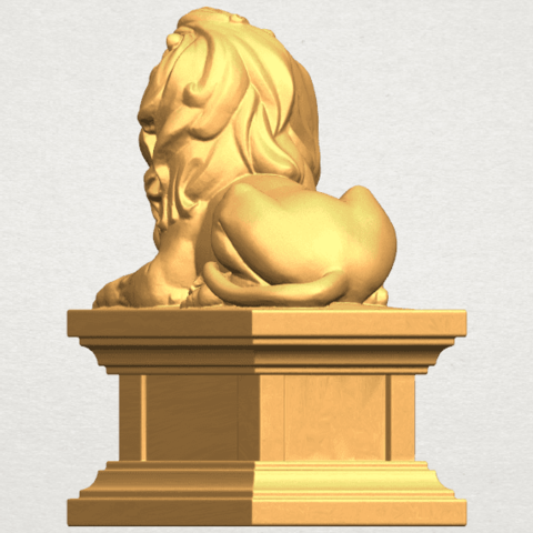 TDA0499 Lion 04 A04.png Download free STL file Lion 04 • Template to 3D print, GeorgesNikkei