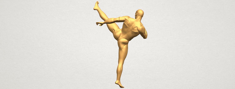 TDA0547 Man Kicking A04.png Télécharger fichier STL gratuit Man Kicking • Objet pour impression 3D, GeorgesNikkei