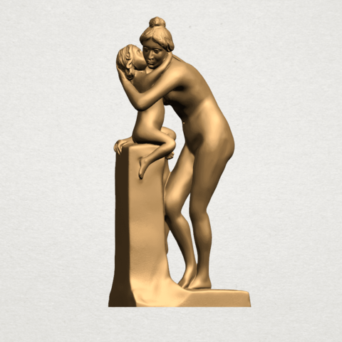 Mother-Child (i) A03.png Download free STL file Mother and Child 01 • 3D printing design, GeorgesNikkei