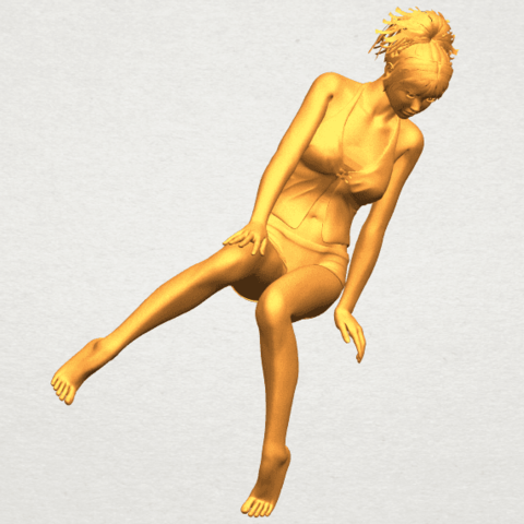 A10.png Download free STL file Naked Girl E04 • Template to 3D print, GeorgesNikkei