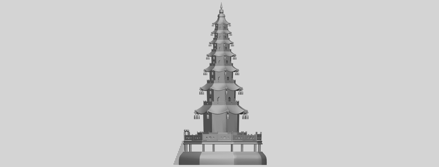 03_TDA0623_Chiness_pagodaA04.png Download free STL file Chiness pagoda • Design to 3D print, GeorgesNikkei