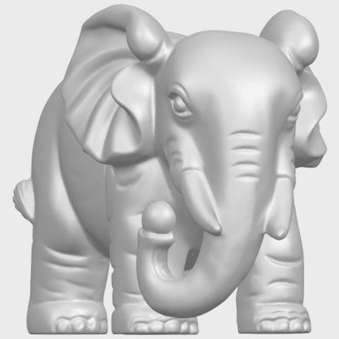 Elephant_03_-122mmA01.png Télécharger fichier STL gratuit Éléphant 03 • Modèle imprimable en 3D, GeorgesNikkei