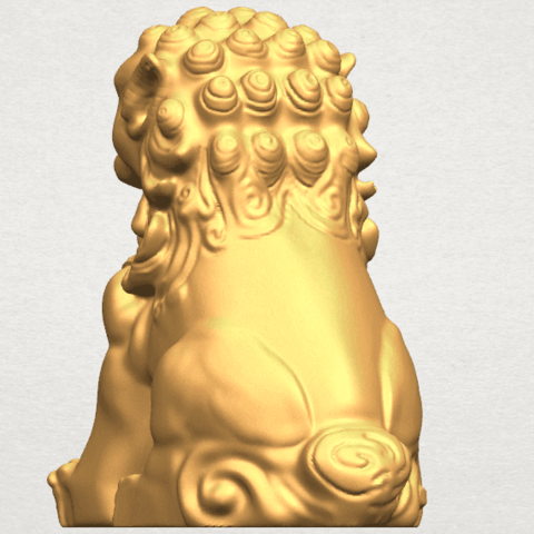 TDA0500 Chinese Lion A04.png Download free STL file Chinese Lion • 3D printing object, GeorgesNikkei