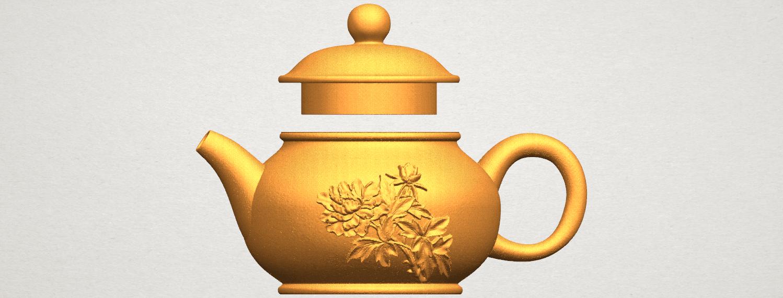 TDA0324 Tea Pot (iii)- Body and Cap A01.png Download free STL file Tea Pot 03 • 3D printing template, GeorgesNikkei