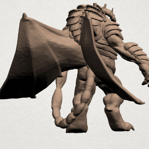 Monster (i) A05.png Download free STL file Monster 01 • 3D printable template, GeorgesNikkei