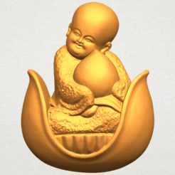 Download free 3D model Little Monk 03, GeorgesNikkei