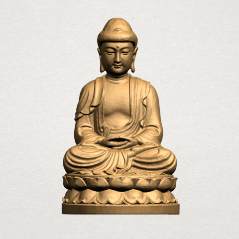 Gautama Buddha young - B01.png Télécharger fichier STL gratuit Gautama Bouddha Bouddha • Objet imprimable en 3D, GeorgesNikkei