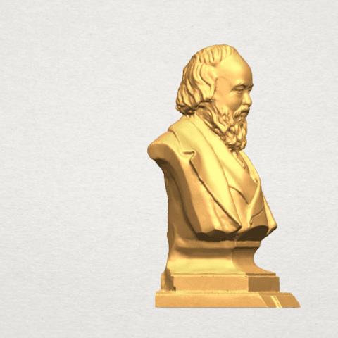TDA0621 Sculpture of a head of man 03 A06.png Télécharger fichier STL gratuit Sculpture d'une tête d'homme 03 • Plan pour impression 3D, GeorgesNikkei