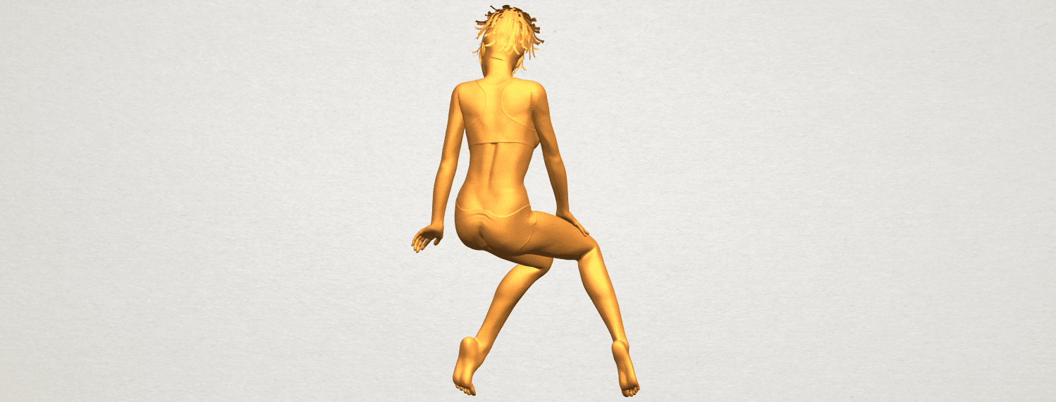 A07.png Download free STL file Naked Girl E03 • 3D printable template, GeorgesNikkei