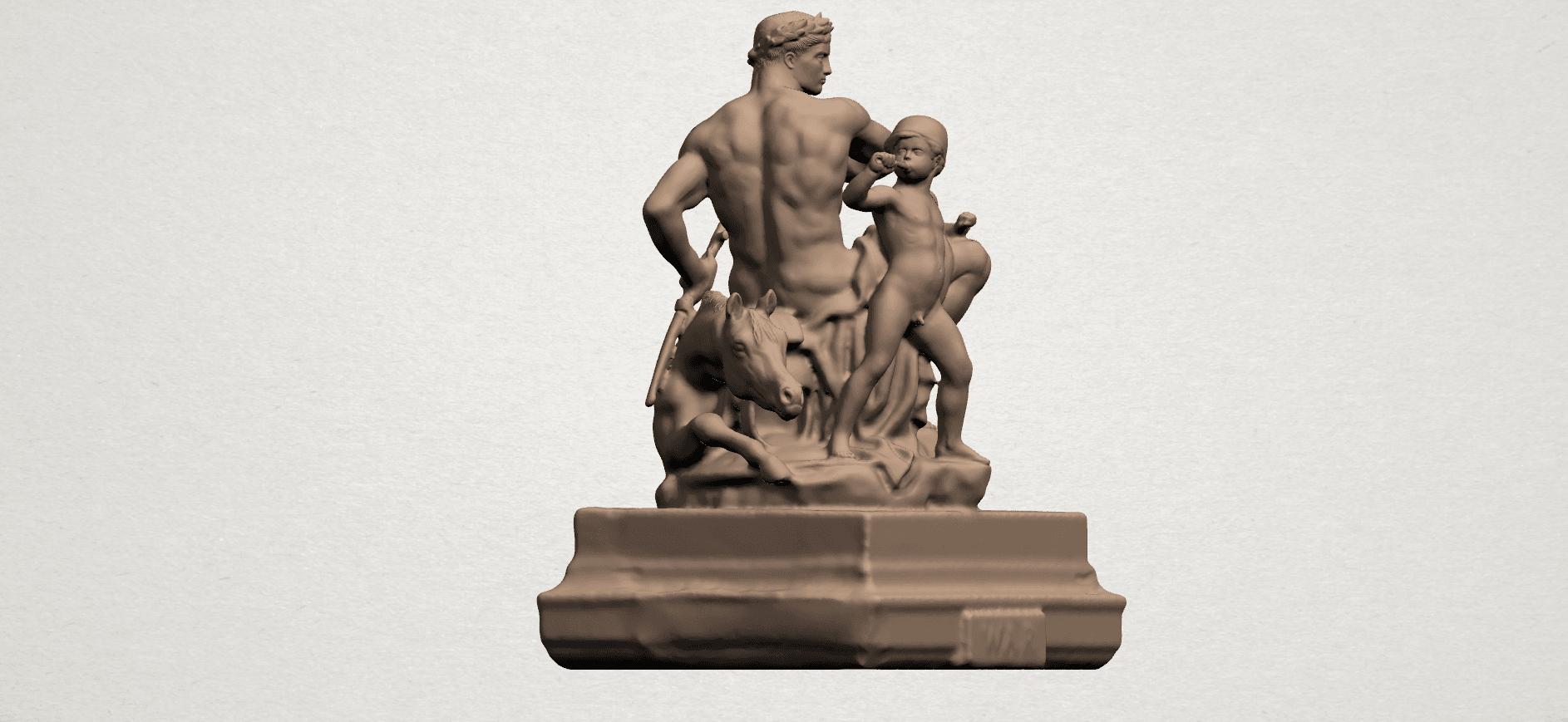 Father and Son (ii) A06.png Télécharger fichier STL gratuit Père et Fils 02 • Plan à imprimer en 3D, GeorgesNikkei