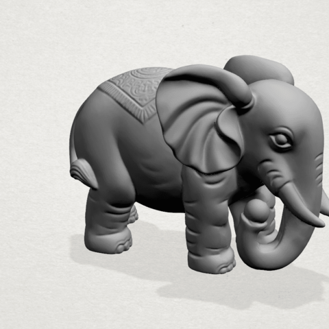 Elephant 03-A05.png Download free STL file Elephant 03 • 3D printable design, GeorgesNikkei
