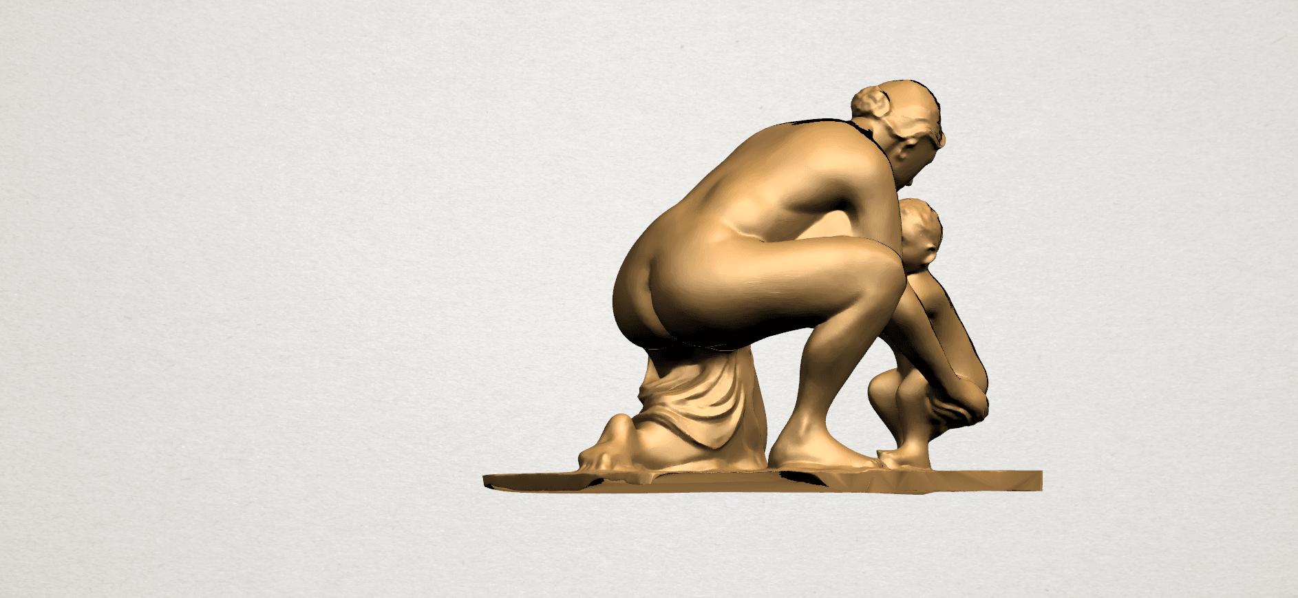 Mother-Child (iv) A04.png Download free STL file Mother and Child 04 • 3D print template, GeorgesNikkei