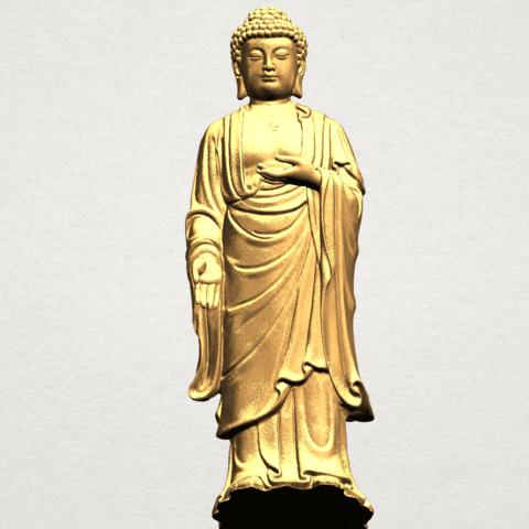 Gautama Buddha (stand)-80mm-B07.png Télécharger fichier STL gratuit Gautama Bouddha - Debout 01 • Plan pour impression 3D, GeorgesNikkei