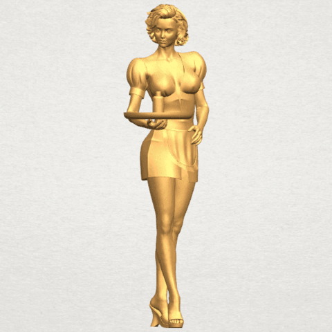 TDA0475 Beautiful Girl 09 Waitress ex800 A01.png Download free STL file Beautiful Girl 09 Waitress • 3D printable object, GeorgesNikkei