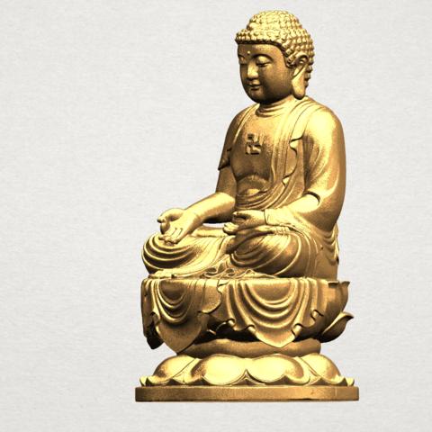 Gautama Buddha (ii) A02.png Download free STL file Gautama Buddha 02 • 3D print template, GeorgesNikkei