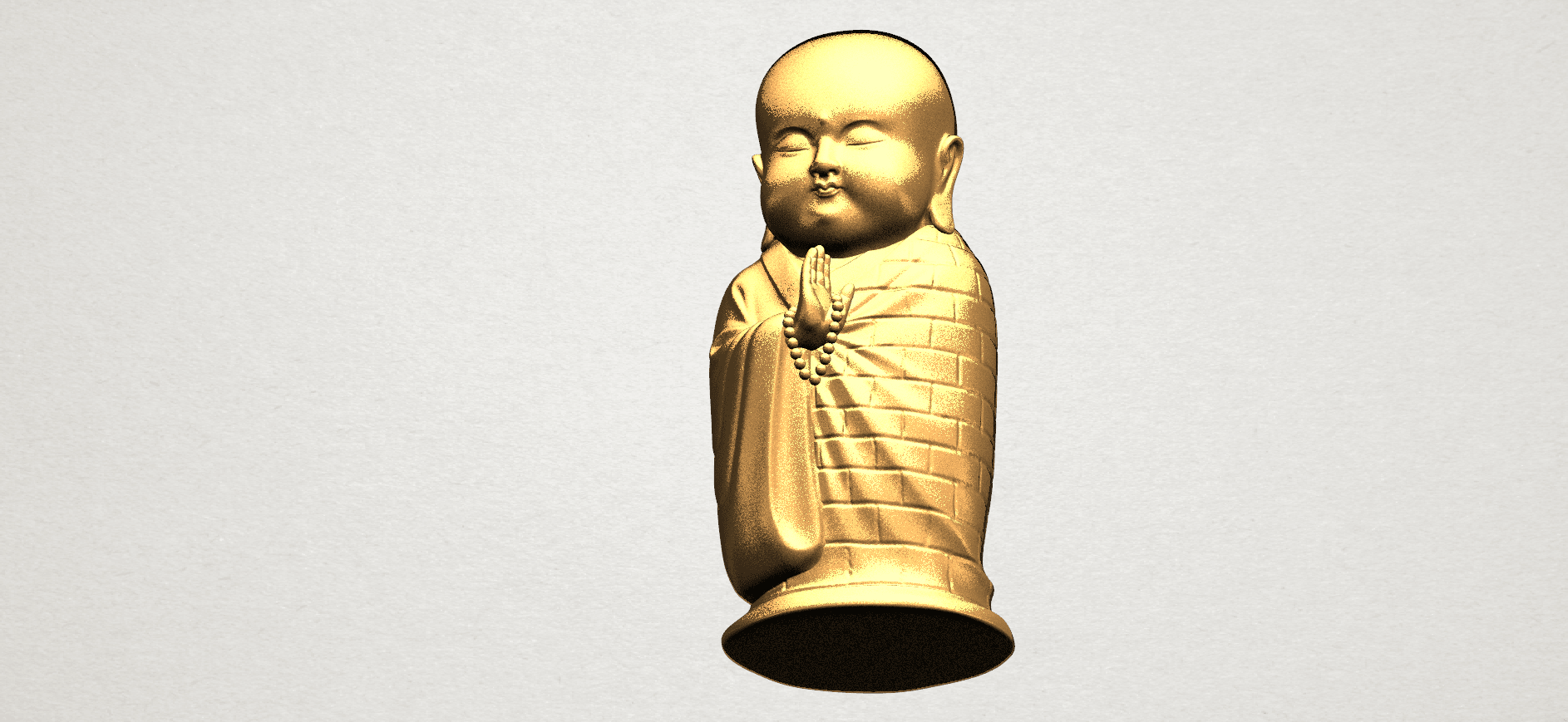 Little Monk 80mm - A08.png Download free STL file Little Monk 01 • 3D printable design, GeorgesNikkei