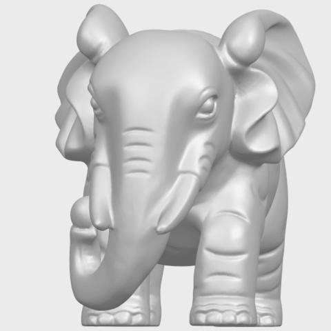 Elephant_03_-122mmA02.png Télécharger fichier STL gratuit Éléphant 03 • Modèle imprimable en 3D, GeorgesNikkei