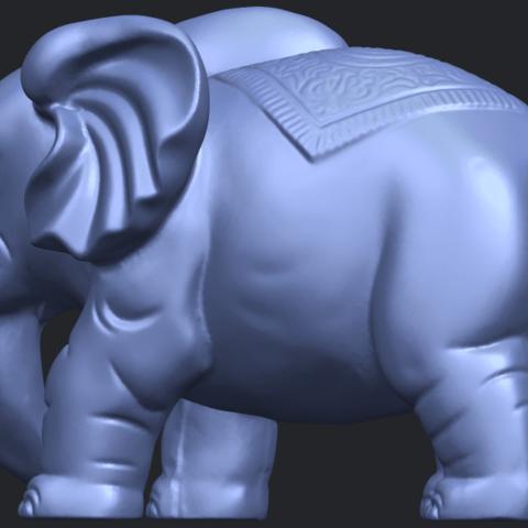 Elephant_03_-122mmB05.png Télécharger fichier STL gratuit Éléphant 03 • Modèle imprimable en 3D, GeorgesNikkei