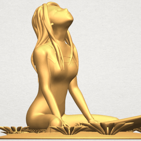 TDA0589 Girl surfing board 01 A08.png Download free STL file Girl surfing board 01 • 3D printing object, GeorgesNikkei