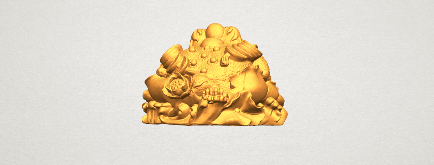 TDA0336 The Golden Toad A03.png Download free STL file The Golden Toad • 3D printer design, GeorgesNikkei