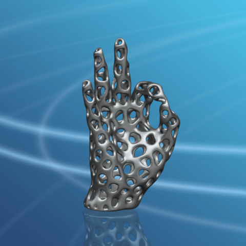 Voronoi Hand-01.png Download free STL file Voronoi Hand • Object to 3D print, GeorgesNikkei