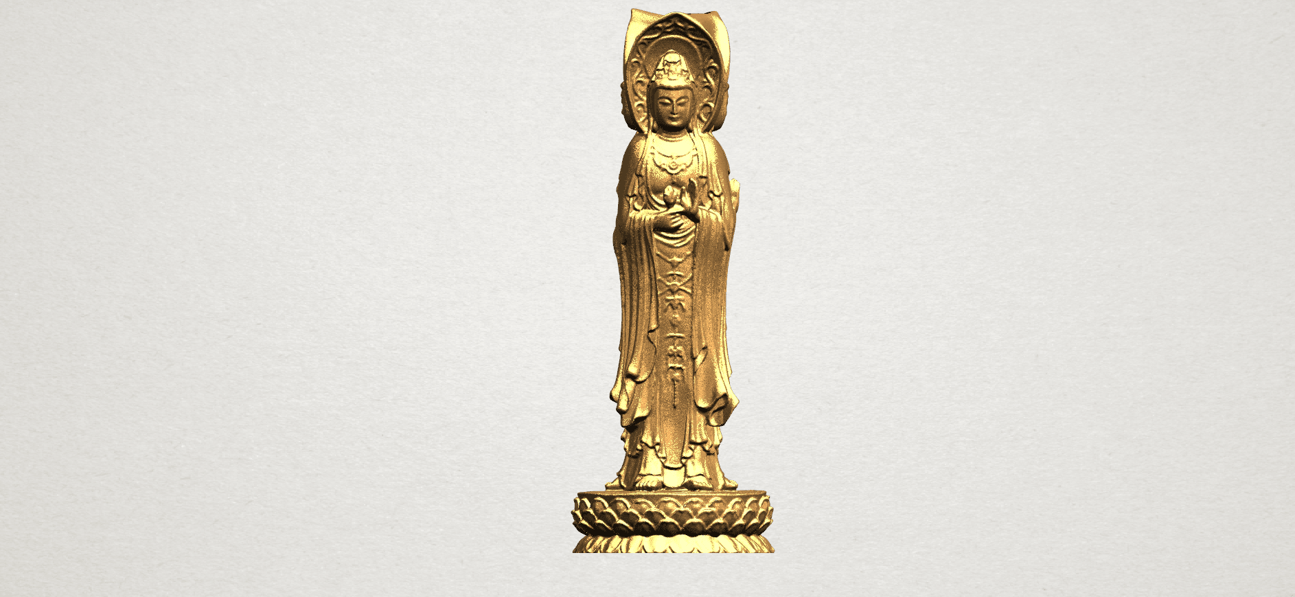 Avalokitesvara Buddha (with Lotus Leave) (i) A01.png Download free STL file Avalokitesvara Buddha (with Lotus Leave) 01 • 3D printable model, GeorgesNikkei