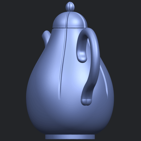 19_TDA0323_Tea_Pot_iiB03.png Download free STL file Tea Pot 02 • 3D printer template, GeorgesNikkei