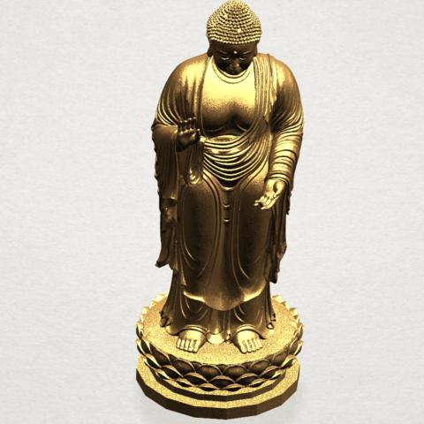 Gautama Buddha Standing (ii) A10.png Download free STL file Gautama Buddha Standing 02 • 3D printer design, GeorgesNikkei