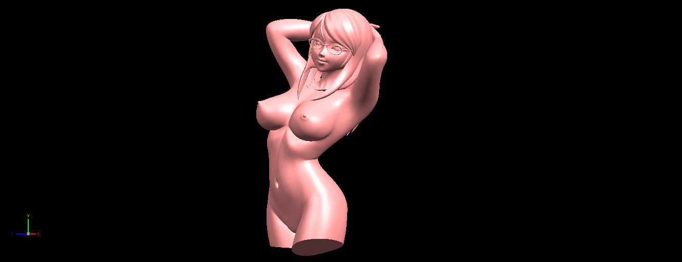 08.png Download free STL file Naked Girl 01- half body • 3D printing template, GeorgesNikkei