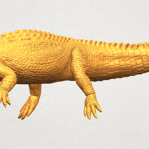 A05.png Download free STL file Alligator 01 • 3D printer object, GeorgesNikkei