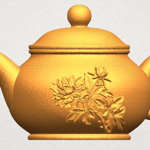 TDA0324 Tea Pot (iii)- Body and Cap A06.png Download free STL file Tea Pot 03 • 3D printing template, GeorgesNikkei