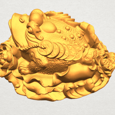 TDA0336 The Golden Toad A07.png Download free STL file The Golden Toad • 3D printer design, GeorgesNikkei