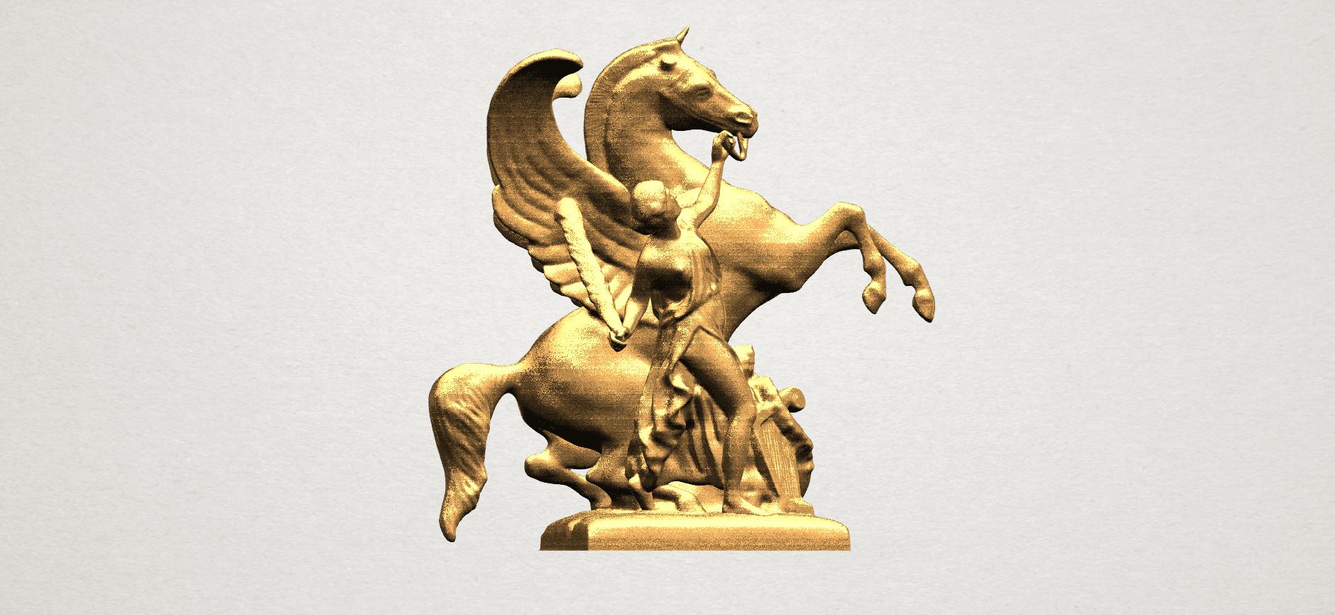 Horse (v) A04.png Télécharger fichier STL gratuit Cheval 05 • Plan pour impression 3D, GeorgesNikkei