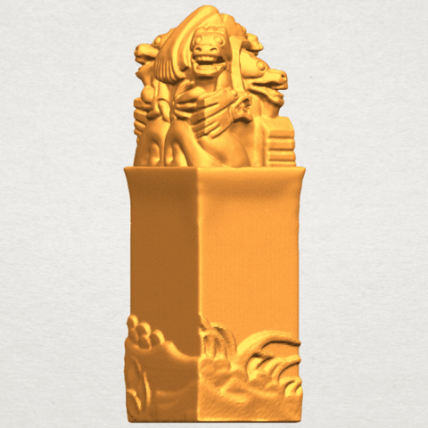 A08.png Download free STL file Dragon Stamp 02 • 3D printing model, GeorgesNikkei