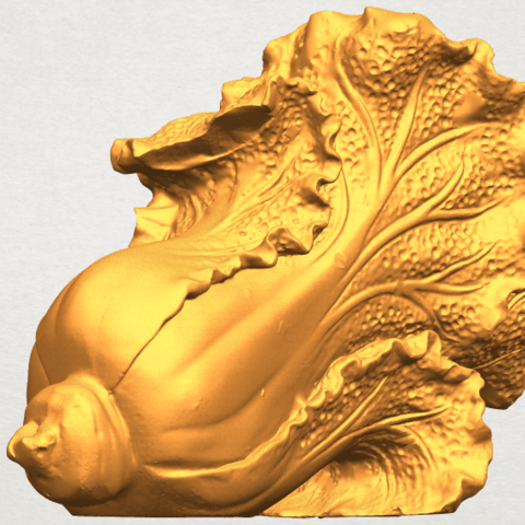 A05.png Download free STL file Vegetable - Fatt Choi 04 • 3D print template, GeorgesNikkei