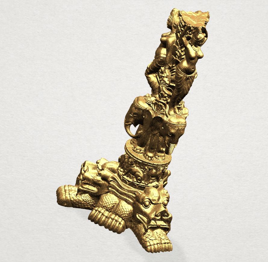 Thai Elephant Tower 80mm - A06.png Télécharger fichier STL gratuit Tour de l'éléphant thaïlandais • Modèle pour impression 3D, GeorgesNikkei