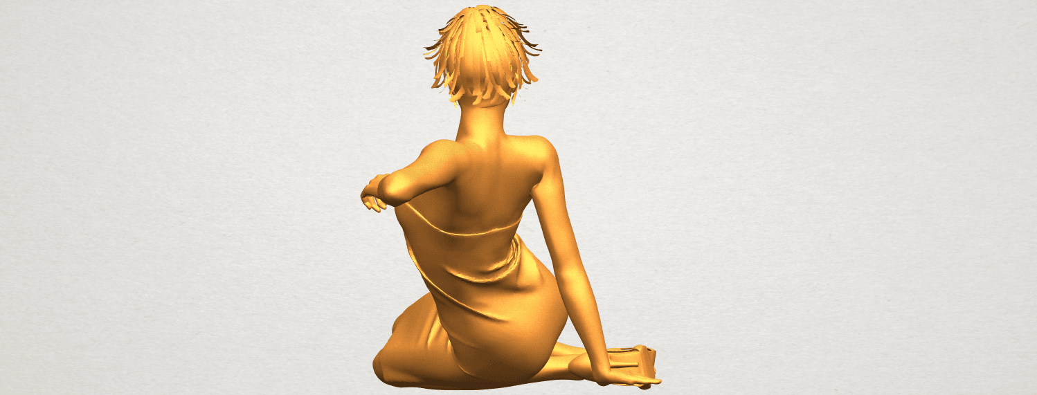 A06.png Download free STL file Naked Girl F05 • 3D printer object, GeorgesNikkei