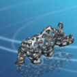 Download free 3D printer files Voronoi Rhino, GeorgesNikkei