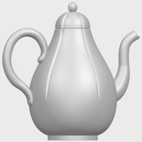 19_TDA0323_Tea_Pot_iiA06.png Download free STL file Tea Pot 02 • 3D printer template, GeorgesNikkei