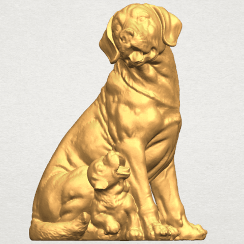 TDA0526 Dog and Puppy A03.png Download free STL file Dog and Puppy 01 • Model to 3D print, GeorgesNikkei