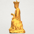 Download free STL file Avalokitesvara Bodhisattva - Sit on Lion • 3D printer design, GeorgesNikkei