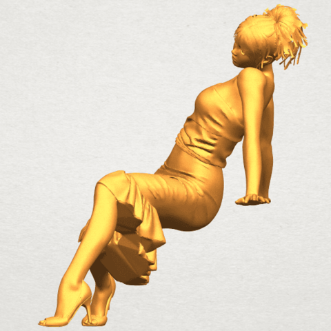 A03.png Download free STL file Naked Girl G05 • 3D printing object, GeorgesNikkei
