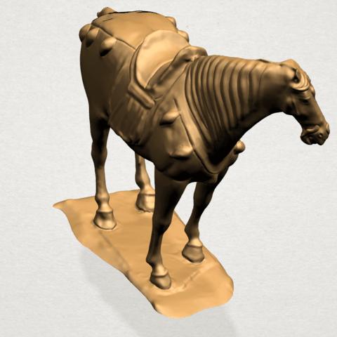 Horse (iv) B02.png Télécharger fichier STL gratuit Cheval 04 • Design à imprimer en 3D, GeorgesNikkei
