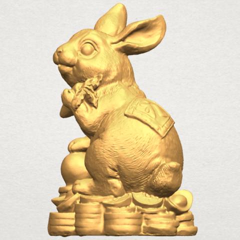 TDA0559 Rabbit 02 A02.png Télécharger fichier STL gratuit Lapin 02 • Design imprimable en 3D, GeorgesNikkei