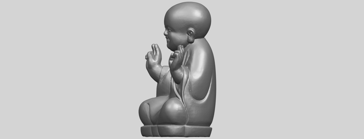 TDA0732_Little_Monk_05A03.png Download free STL file Little Monk 05 • 3D printing template, GeorgesNikkei