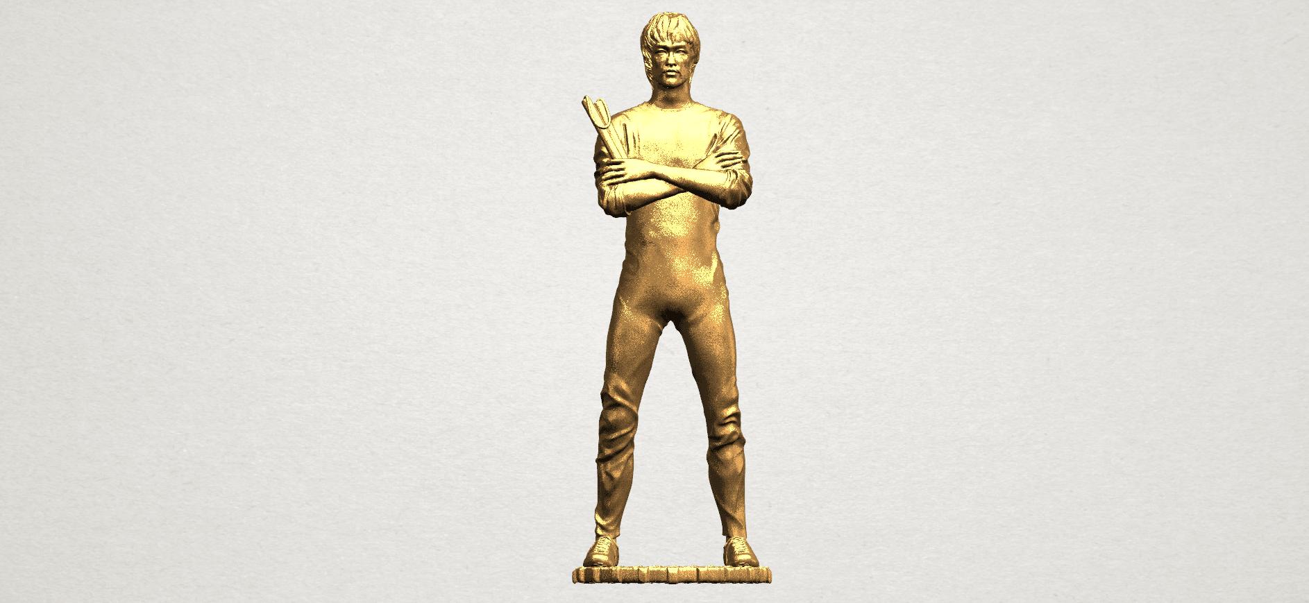 Bruce Lee A01.png Download free STL file Bruce Lee • 3D printing design, GeorgesNikkei